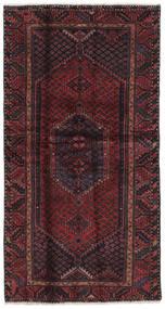Hamadan Dywan 104X197 Orientalny Tkany Ręcznie Czarny/Ciemnobrązowy (Wełna, Persja/Iran)