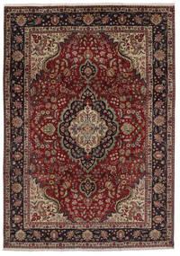 Tebriz Dywan 207X297 Orientalny Tkany Ręcznie Czarny/Ciemnobrązowy (Wełna, Persja/Iran)