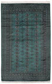 Pakistański Bucharski 2Ply Dywan 164X255 Orientalny Tkany Ręcznie Czarny/Ciemny Turkus (Wełna, Pakistan)