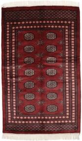 Pakistański Bucharski 3Ply Dywan 125X203 Orientalny Tkany Ręcznie Czarny/Ciemnobrązowy (Wełna, Pakistan)