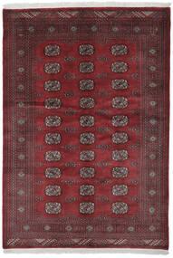 Pakistański Bucharski 3Ply Dywan 140X201 Orientalny Tkany Ręcznie Czarny/Ciemnoczerwony (Wełna, Pakistan)