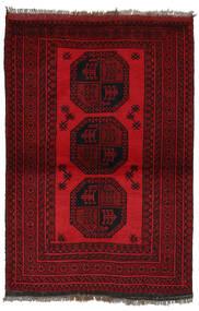 Afgan Dywan 100X150 Orientalny Tkany Ręcznie Czarny/Ciemnoczerwony (Wełna, Afganistan)