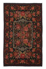 Kilim Rose Moldavia Dywan 208X340 Orientalny Tkany Ręcznie Czarny/Biały/Creme (Wełna, Mołdawia)