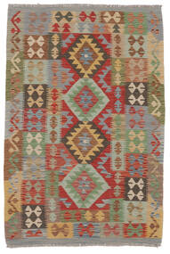 Kilim Afgan Old Style Dywan 106X158 Orientalny Tkany Ręcznie Ciemnobrązowy/Brązowy (Wełna, Afganistan)