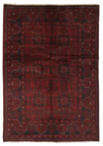 Afgan Khal Mohammadi Dywan 132X188 Orientalny Tkany Ręcznie Czarny/Beżowy (Wełna, Afganistan)